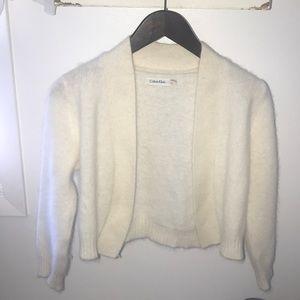 Calvin Klein cream white wool cardigan